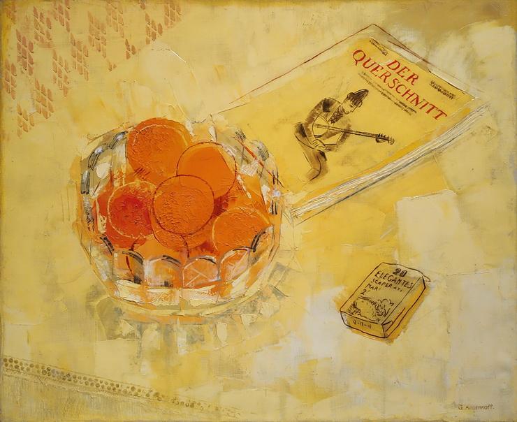 Ю.Анненков. Натюрморт с апельсинами. 1926. Холст, масло. Галерея «Наши художники».