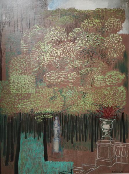 Ю.Анненков. Булонский лес. Втор. пол. 1920-х. Холст, масло. ГТГ.