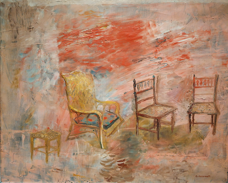 Ю.Анненков. Интерьер. 1930. Холст, масло. Музей АРТ4.