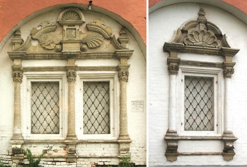 Наличники утраченной Успенской церкви на территории Донского монастыря.