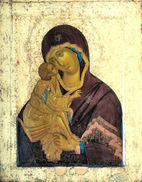 Феофан Грек. Икона Донской Богоматери. 1380-1395. ГТГ.
