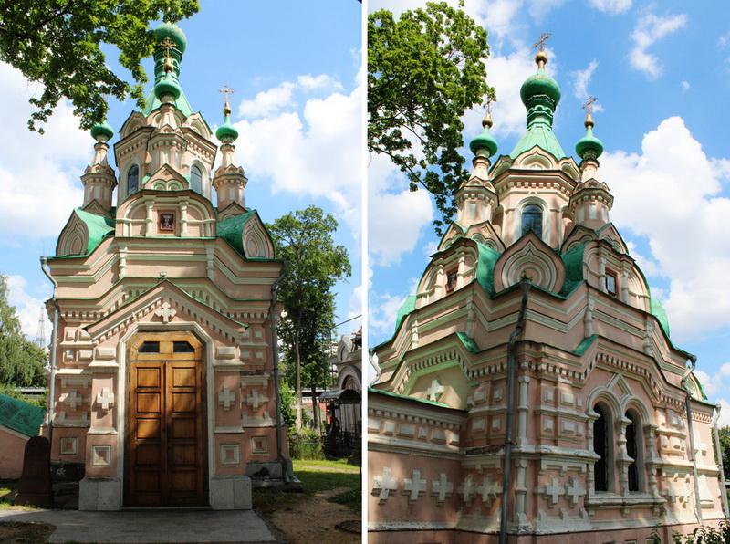 Храм Иоанна Лествичника (усыпальница Терещенко). 1896-1897. Западный и южный фасады. Фото2020.