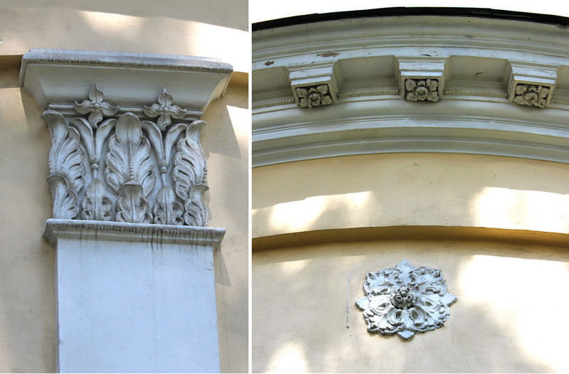 Элементы декора  храма Александра Свирского.
