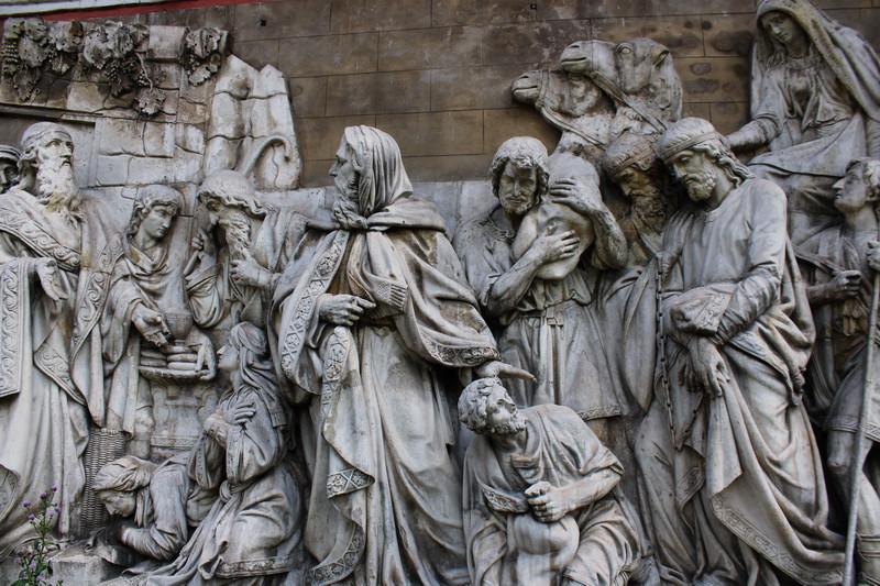 Горельеф «Мельхиседек встречает Авраама с плененными им царями».