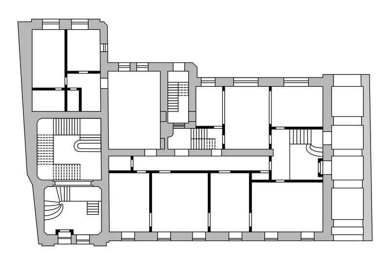 Особняк Саарбекова. План 1-ого этажа.