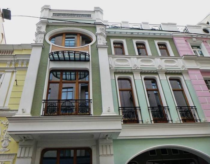 Барыковский переулок, дом 7 – вторая секция, стилизованная под модерн. Фото 2020.