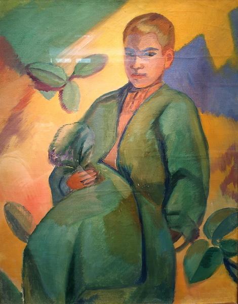 Павел Кузнецов. Бухарский мальчик. 1912-1915. Холст, масло.