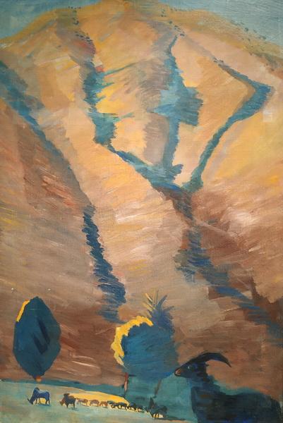 М.Сарьян. Горный пейзаж. 1913. Холст, масло.