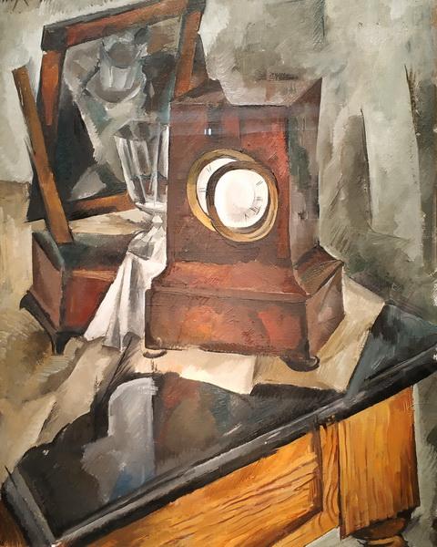 А.Осмеркин. Натюрморт с часами. 1920. Холст, масло.