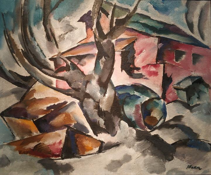 Б.Такке. Пейзаж. 1910-1911. Холст, масло.