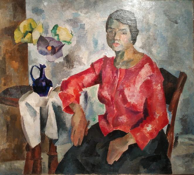 Р.Фальк. Женский портрет. 1917. Холст, масло.