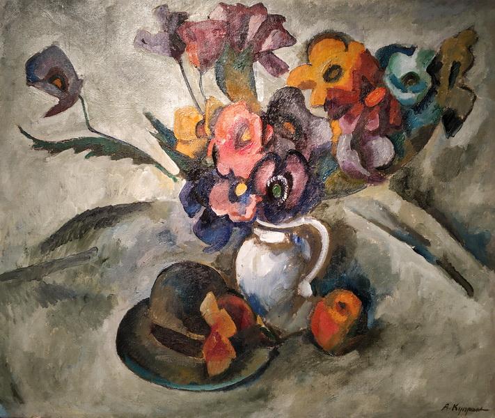 А.Куприн. Натюрморт со шляпой. 1917. Холст, масло.