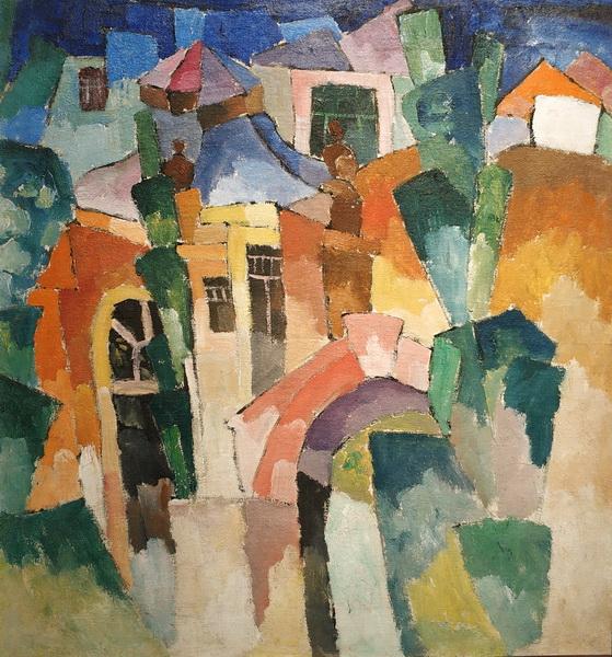 А.Лентулов. Пейзаж. 1910-е. Холст, масло.