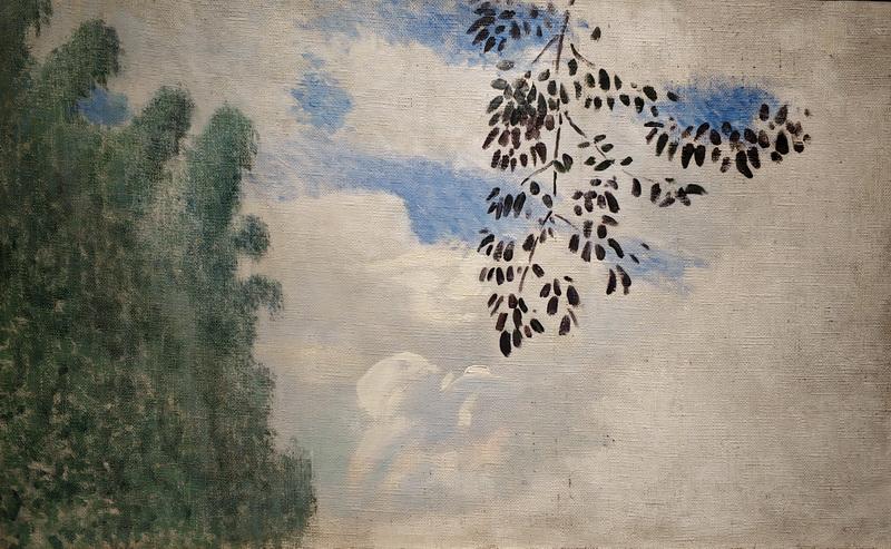 В.Борисов-Мусатов. Ветка дерева на фоне облаков. Около 1905. Этюд. Холст, масло.