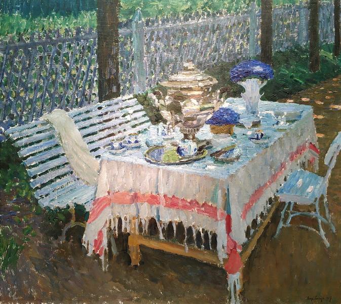 И.Грабарь. Утренний чай. 1917. Холст, масло.