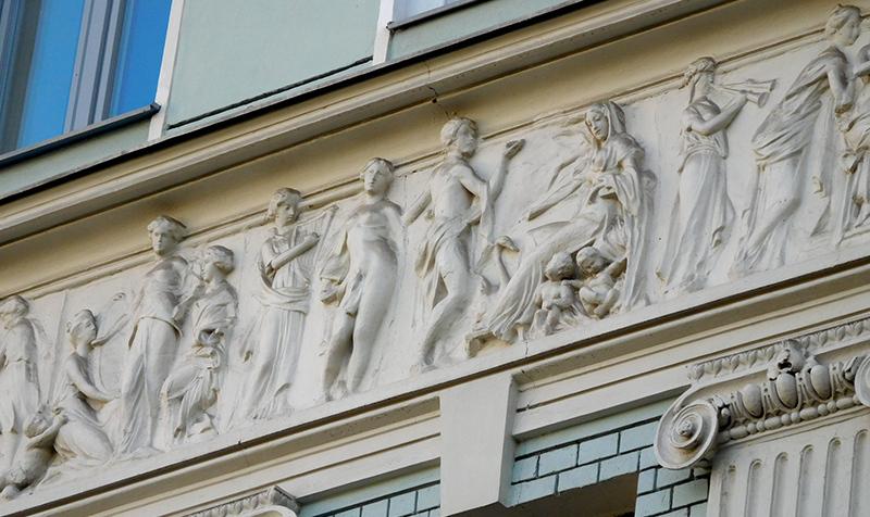 Доходный дом Г. В. Бройдо (2-й Обыденный переулок). Арх. Н. И. Жерихов. 1904.