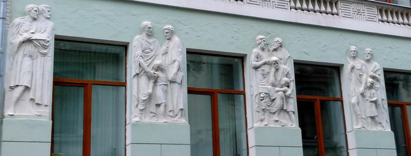 Мужская гимназия А. Е. Флерова (Мерзляковский переулок, 11). Арх. Н. И. Жерихов. 1910.
