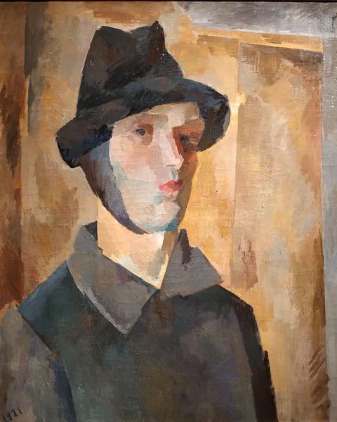 Р.Фальк. Автопортрет с завязанным ухом. 1921. Холст, масло. ГТГ.