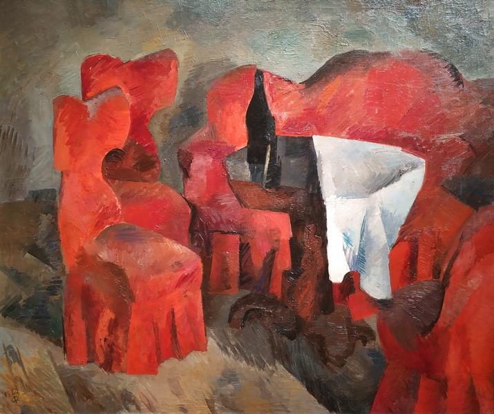 Р.Фальк. Красная мебель. 1920. Холст, масло. ГТГ.