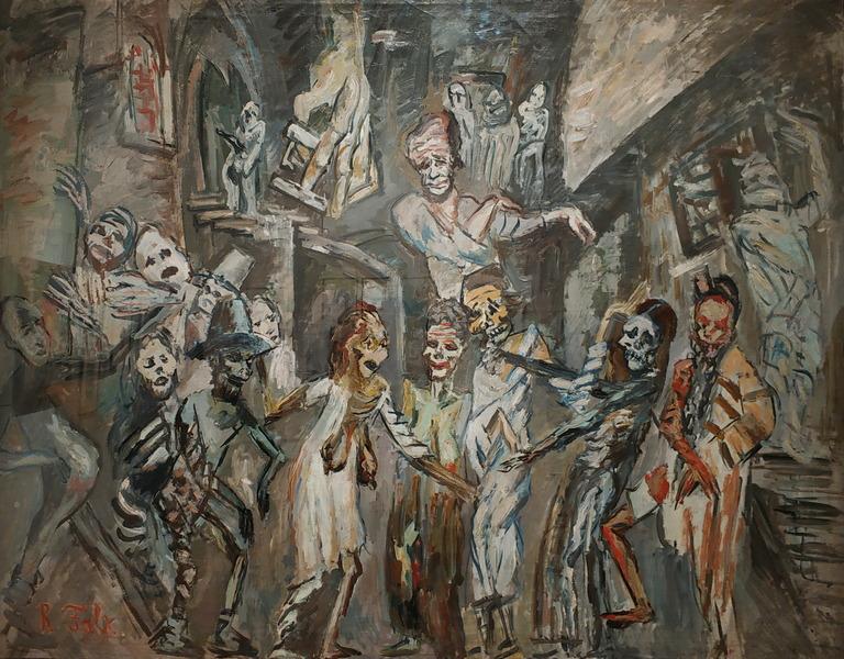 Р.Фальк. Свадьба мертвецов. 1922-1925. Холст, масло. Музей им. А.А.Бахрушина.