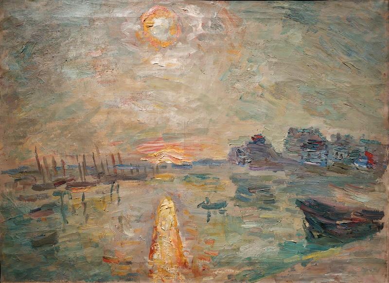 Р.Фальк. Солнце в море. Бретань. 1934-1935. Холст, масло. Частное собрание, Москва.
