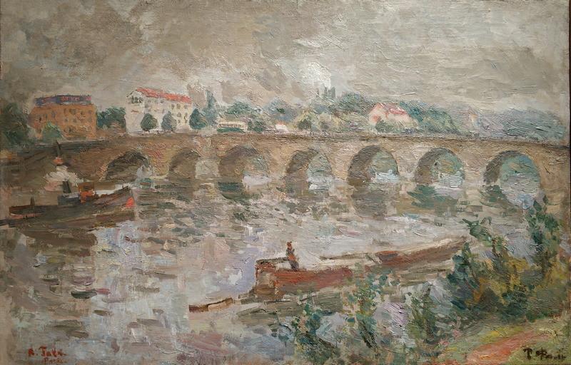 Р.Фальк. Мост в Сен-Клу. На окраине Парижа. 1934. Холст, масло. ГТГ.