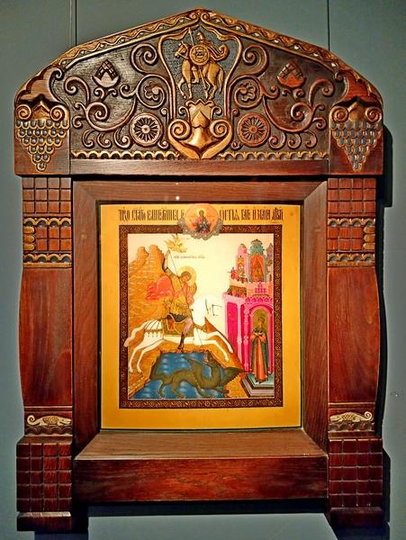 Чудо великомученика Георгия о змее. Конец 19 – начало 20 века. А.А.Бочкарев (?), Сызрань.