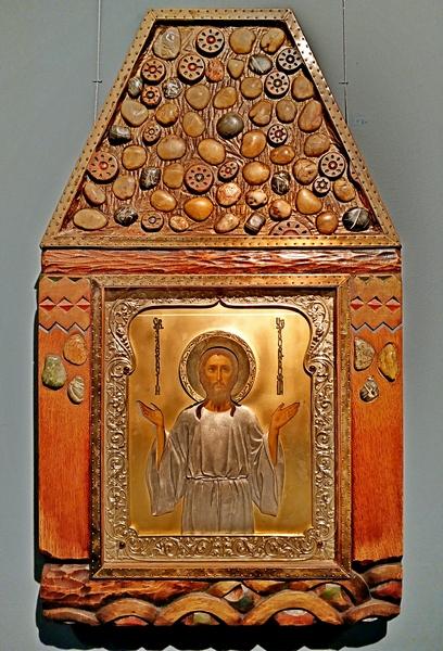 Святой Алексей, человек божий. После 1908. Москва. – Оклад: мастерская Д.Л.Смирнова.