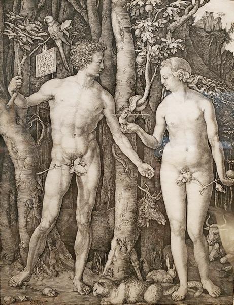 Альбрехт Дюрер. Адам и Ева. 1504.