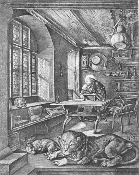 Альбрехт Дюрер. Святой Иероним в келье. 1514.