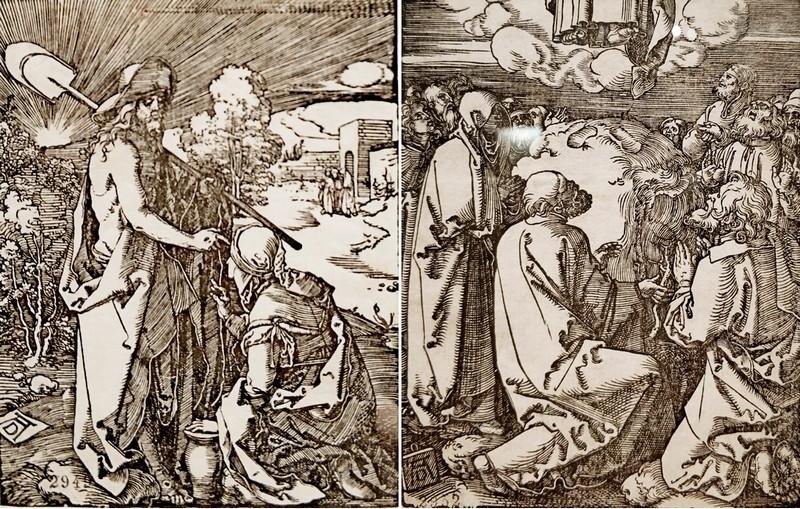 Альбрехт Дюрер. Явление Христа Марии Магдалине.  – Вознесение. Лист 31 и 34 из серии «Малые страсти». Около 1510.