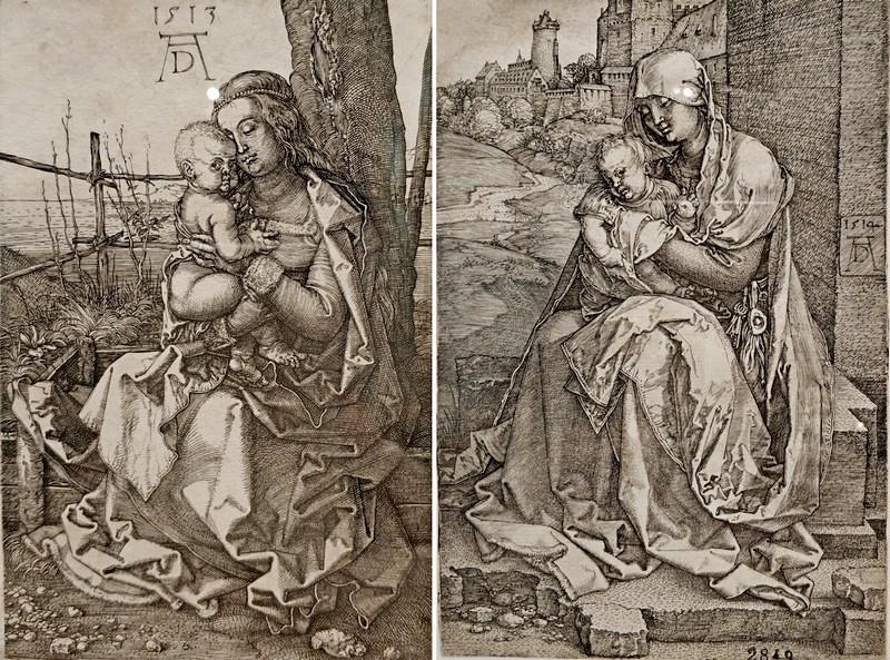 Альбрехт Дюрер. Мария у дерева. 1513. - Мария у стены. 1514.