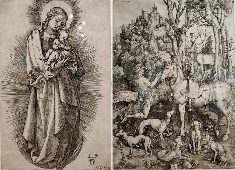 Альбрехт Дюрер. Мария с младенцем на полумесяце. 1514. - Святой Евстафий. Около 1501.