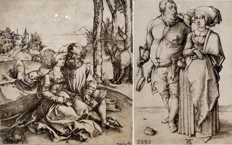 Альбрехт Дюрер. Неравная пара (Любовное предложение). Около 1495. - Повар и его жена. Около 1496.