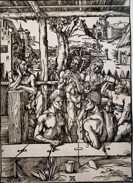 Альбрехт Дюрер. Мужская баня. Около 1496.