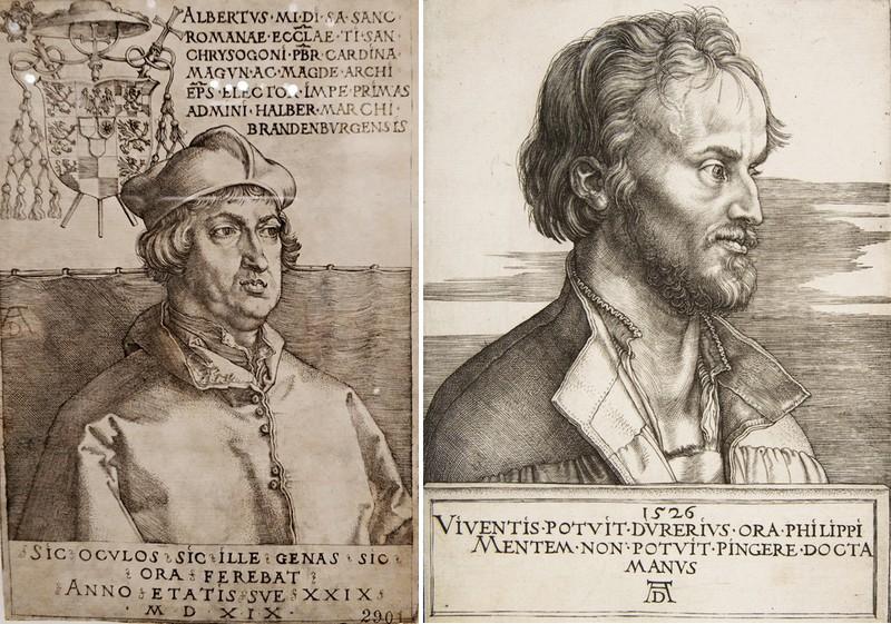 Альбрехт Дюрер. Кардинал Альбрехт Бранденбургский. 1519. - Портрет Филиппа Меланхтона. 1526.