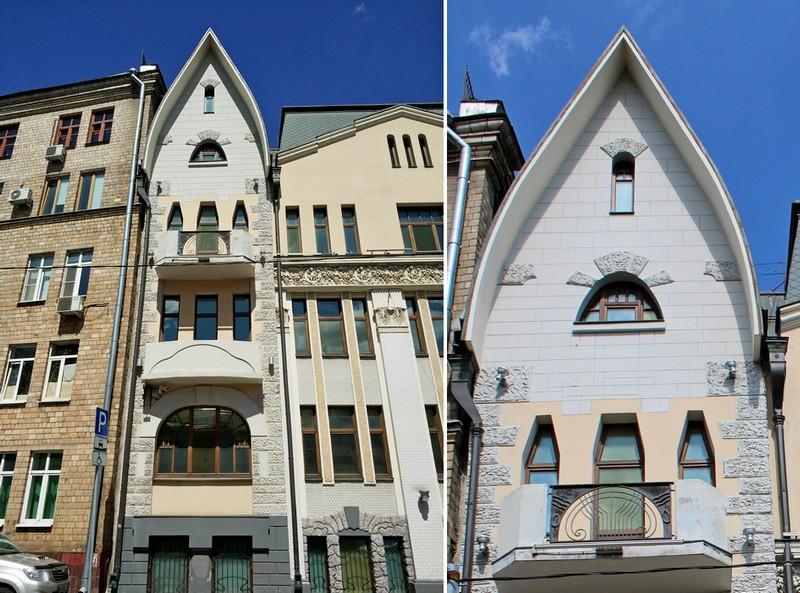 Доходный дом наследников Циркунова. Фото 2018. Левая часть фасада в стиле северного модерна.
