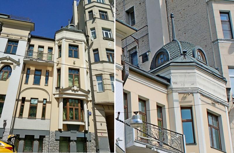 Доходный дом наследников Циркунова. Фото 2018. Правая часть фасада в стиле модерн с башенкой.