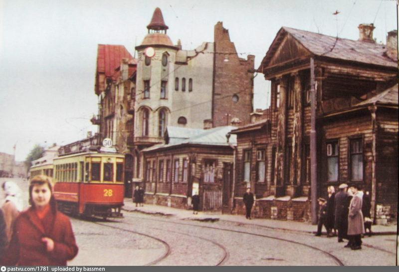 Доходные дома Ломакиной. Арх. Масленников. 1909. Фото 1960-1969.