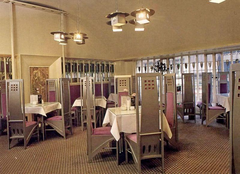 Интерьер чайной комнаты в Глазго. Арх. Ч.Р.Макинтош.