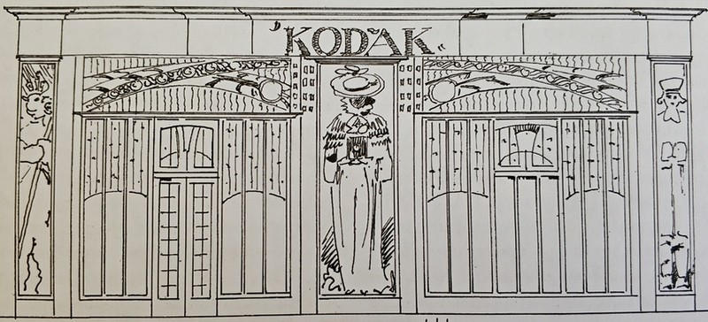 Дж. Уолтон. Проект витрины магазина «Кодак» на Петровке. 1903.