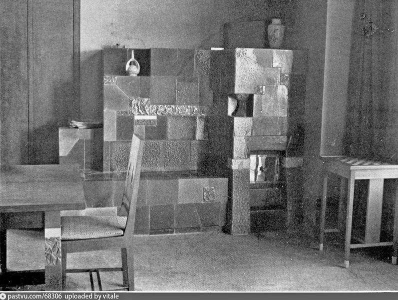 Дача Носенкова в Иванькове. Интерьер. Фото 1911.