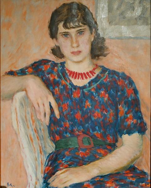 В.Лебедев. Портрет девушки с челкой. 1938. Холст, масло. Собрание И. Д. Афанасьева. В настоящее время в собрании KGallery.