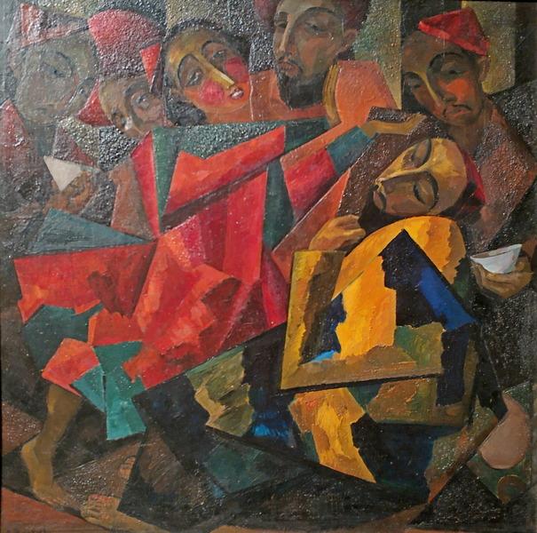 А.Волков. Танец. 1924. Фанера, масло. Собрание Я.Е.Рубинштейна. В настоящее время в собрании В. А. Дудакова и М. К. Кашуро.