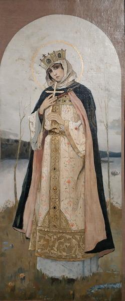 М.Нестеров. Святая Ольга. 1892-1893. Холст, масло. Собрание А.Е.Стычкина. В частном собрании.