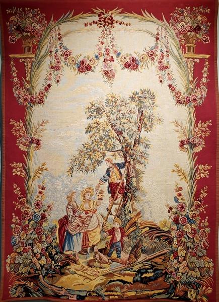 Галантное свидание. Соткан по рисункам Maurice Jacques&Louis Tessier. Оригинал выполнен в 1758 году на Королевской Мануфактуре гобеленов.