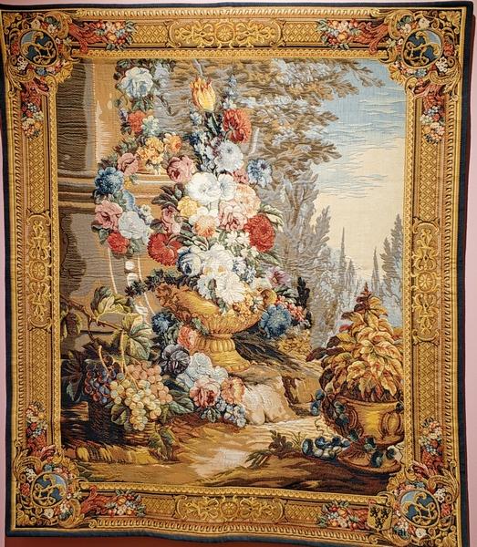 Гобелен в раме с бордюром. Соткан по картону с итальянской картины XVIII века Микеле Антонио Рапуса  (1733-1819). 110х95 см.
