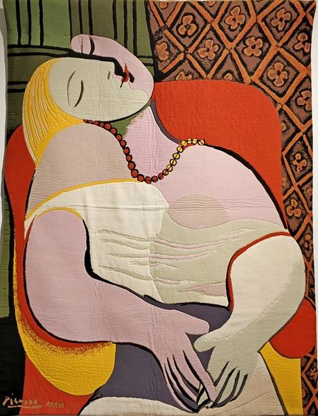 Сон Пикассо. Соткан по картине 1932 года Пабло Пикассо в стиле сюрреализма.