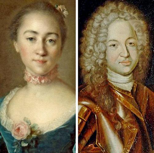 Михаил Гаврилович Головкин и его жена Екатерина Ивановна Ромодановская (Головина).
