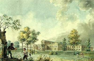 И. А. Иванов. Дом графа А.К.Разумовского на Гороховом поле. 1809.